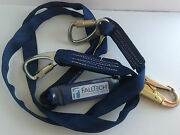New Falltech 8241y Shock Absorbing Lanyard With Wraptech/viewpack 6and039