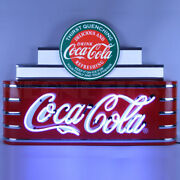 Art Deco Marquee Coca-cola Evergreen Neon Sign 9adccg W/ Free Shipping