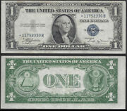 1 1935-b=star=silver Certificate=fr. 1611=extremely Fine