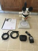 Leica Ms5 Stereozoom Microscope System Stand Ergo Head 0.63x-4x Zoom Light Ring