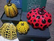Yayoi Kusama Collection Set Of 4 Paperweight Pumpkin Red Yellow Wallet Japan F/s