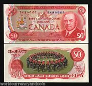 Canada 50 Dollars P90 A 1975 King Mounted Police On Horse Unc Lawson/ Bouey Note