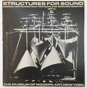 Francois Experimental Music / Structures For Sound Musical Instruments 1st 1965
