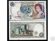 Isle Of Man 5 Pounds P41 1983 Queen Map Unc Rare Money Bill Gb Uk Bank Note