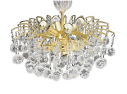 Christoph Palme Chandelier Gilded Brass And Crystal Glass Palwa Lamp 70s