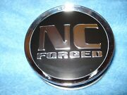 Nc Forged Center Cap W/tabs And Wire 99-1372 - Black W/silvertone Lettering And Trim