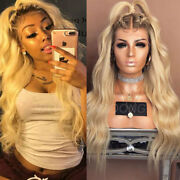 Top Swiss Lace Remy Human Hair Wigs Pre Plucked Bleach Blonde Lace Front Wigs Sf