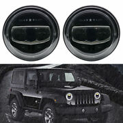 For Jeep Wrangler Jk Jl Tj 7 Inch Led Headlight With White Amber Halo Angle Eyes