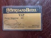 Opryland Hotel Vip Card Owned By Porter Wagoner Grand Ole Opry Star