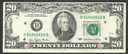 1977 20 Off Center Federal Reserve Note 610 Repeater Book Ends 61042610