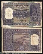 India 100 Rupees P45 1962 Dam Tiger Large Size Rare Indian Money Bill Bank Note