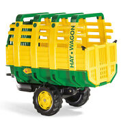 John Deere Rolly 83cm Hay Wagon Trailer/loader Kids F/ Large Rolly Pedal Tractor