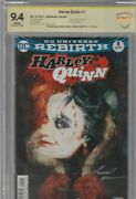 Harley Quinn 1 Cbcs 9.4 Signed By Amanda Conner And Jimmy Pamiotti Sienkie Var
