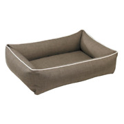 Bowsers Microlinen Driftwood Urban Lounger Rectangle Dog Bed — Pick Size