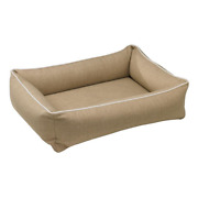 Bowsers Microlinen Flax Urban Lounger Rectangle Dog Bed — Pick Size