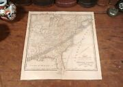 First Published Original 1831 Antique Solar Eclipse Map Across The United States