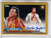 2018 Topps Wwe Heritage Auto Brutus The Barber Beefcake Gold Sp Autograph 09/10