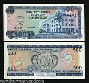 Burundi 500 Francs P30 1988 Central Bank Unc With Tone Africa Paper Money Note