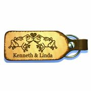 Froggy Love Couples Personalized Leather Engraved Keychain