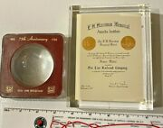 2 Diff. Soo Line Railroad Desk 75th Anniversary Harriman Safety Paper Weight