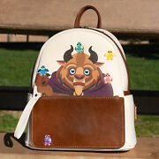 Rare Nwt Loungefly Disney Beauty And The Beast With Birds Chibi Mini Backpack