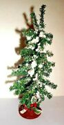 Artificial Village Christmas Tree Snow Covered Flocked 13 Vintage Table Decor