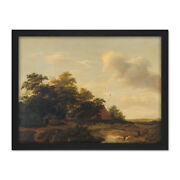 Van Haarlem Landscape With A Farm Painting Framed Wall Art Print 18x24 In