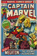 Captain Marvel 22 23 And 24 Fnvf To Vf Condition Marvel 1972/1973 Bv 70