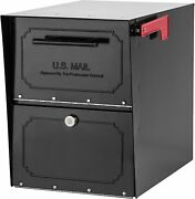 Architectural Mailboxes 6200b-10 Oasis Classic Locking Post Mount Parcel