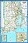 Rhode Island State Highway Laminated Wall Map