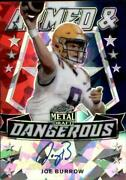 2020 Leaf Metal Draft Football Red White Blue Autograph Singles -pick Your Cards