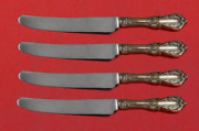 Burgundy By Reed And Barton Sterling Silver Fruit Knife Set 4pc Custom 7 Hhws