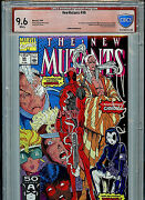 New Mutants 98 Marvel Vsp Cbcs 9.6 Nm+ Red Label Signed Rob Liefeld 1991 G26/b