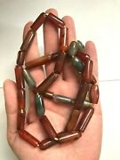 Antique Agate Long Beads Necklace