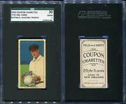 1914 T213 Coupon Cigarettes Type 2 Hal Chase Buffalo Holding Trophy Sgc 30 2