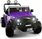 Kids Ride On Wild Jeep Battery Powered Car 12 Volt Children Electric Toy Purple