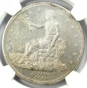 1875-cc Trade Silver Dollar T1 - Certified Ngc Uncirculated Details Ms Unc