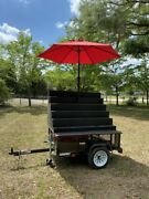 2019 - 3.5' X 5' Street Food Market Produce Vending Cart For Sale In Florida