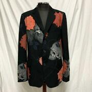 Yohji Yamamoto Pour Homme 18ss Skull And Rose Zip Tailored Jacket Japan F/s