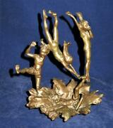 Mark Hopkins Sculpture Bronze Swimmers Last One In 7 X 8 Swimming Diving Le