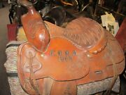 1968 E.b.r.a Heavy Trophy Champion Saddle By The Rodeo Shop Ft Worth Tx.