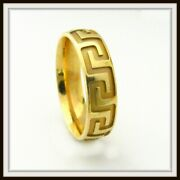 14 Kt Solid Yellow Gold Custom Made Wedding Band For Men And Ladies / Df 0015 /