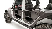 Fab Fours Jl1032-1 Black Front 2 Stage Half Tube Doors For Jeep Wrangler Jl
