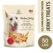 Usa Farm Raised Chicken Jerky Treats Wholesale For Dog All Natural 50 Lbs