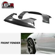 For Nissan Silvia 180sx Bn Style Carbon Front Fender Vents +25mm Mudguards Kits