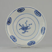 Antique Chinese 17th C Porcelain Transitional Plate China Flowers Wanli Ming ...