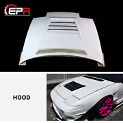 For Nissan 180sx Silvia Dm-style Frp Unpainted Front Vented Hood Bonnet Bodykits