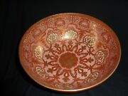 Japanese Meiji Porcelain 27.7cm Wide Bowl With Iron Red Andgilt Dragons And Patterns