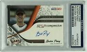 Buster Posey Signed 2008 Tri-star Farm Hands Baseball Trading Card Sf Giants Psa