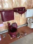 Tandrsquoang Red American Standard Wall Hung Sink And Monaco Toilet